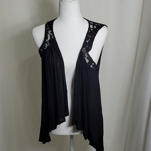 Decree Lightweight Rayon Vest with Lace Detail